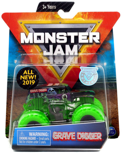 Monster Jam Grave Digger Diecast Car [Green Tires]
