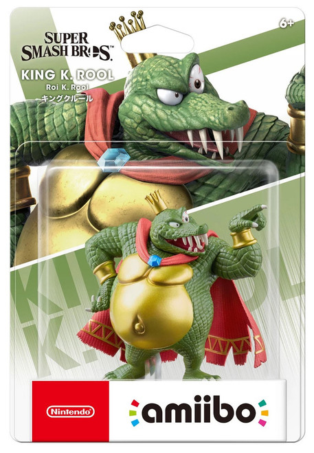 Nintendo Super Smash Bros Amiibo King K. Rool Mini Figure