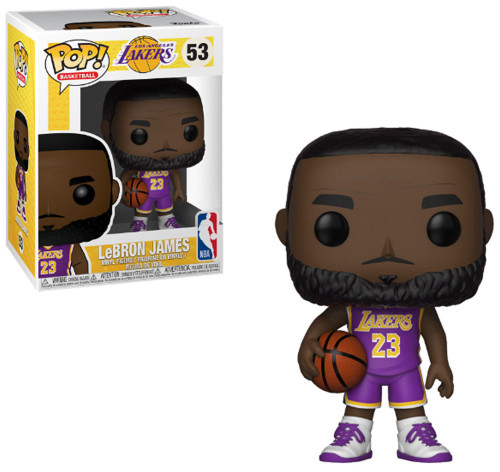 Funko NBA Los Angeles Lakers POP! Sports Basketball LeBron James Vinyl Figure #53 [Purple Uniform]