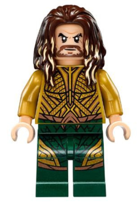LEGO DC Universe Super Heroes Aquaman Minifigure [Dark Brown Long Hair Loose]