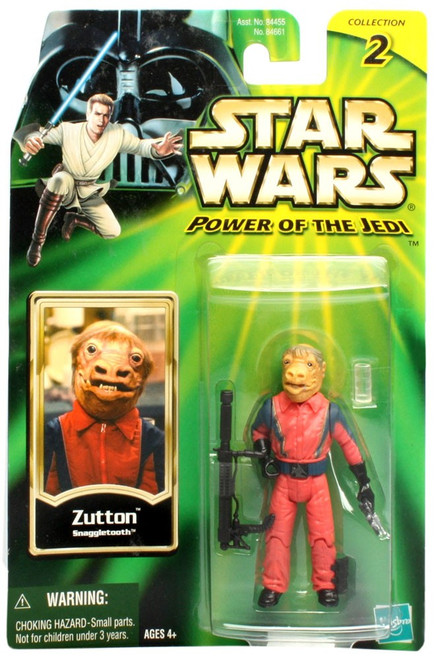 Star Wars A New Hope 2002 Power of the Jedi Collection 2 Zutton Action Figure [Snaggletooth]