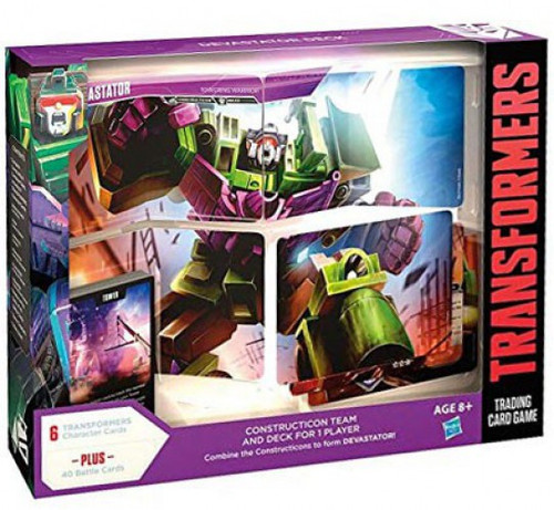 Transformers Trading Card Game Devastator Construction Team & Deck For 1 Player
