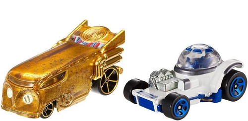 Hot Wheels Star Wars C-3PO and R2-D2 Diecast Car 2-Pack