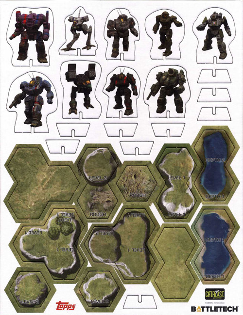 BattleTech Additional BattleMechs & Terrain Punchboard