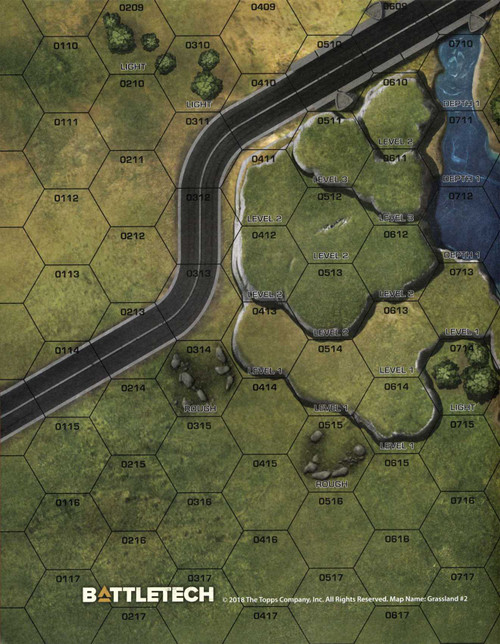 "BattleTech Grasslands / Desert #2 Paper Full-Color Double-Sided Map [18"" x 22""]"