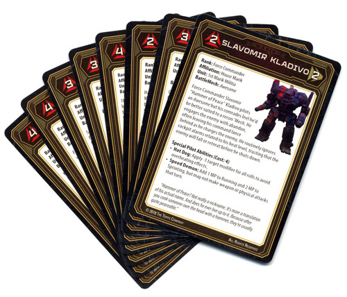 BattleTech Set of 8 Pilot Cards