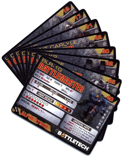 BattleTech Set of 8 Alpha Strike Cards
