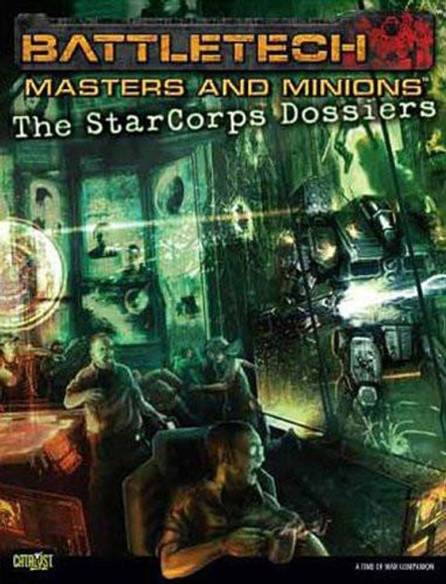 BattleTech Masters And Minions The StarCorps Dossiers Board Game Accessory Book