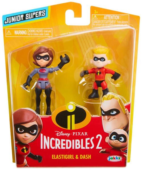 Disney / Pixar Incredibles 2 Junior Supers Grey Elastigirl & Dash 3-Inch Mini Figure 2-Pack