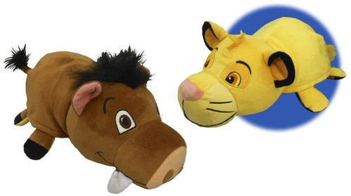 Disney The Lion King Flip a Zoo Simba & Pumbaa 14-Inch Plush