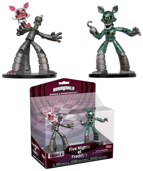 Funko Five Nights at Freddy's Hero World Series 6 Mangle & Phantom Foxy 4-Inch Vinyl Figure 2-Pack