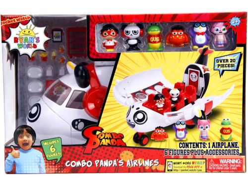 Ryan's World Combo Panda's Airlines Playset [Includes 6 Figures!]