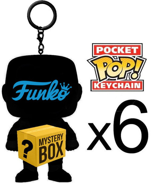Funko MYSTERY BOX LOT of 6 Funko Pocket POP! Keychains [Completely Random, No Duplicates Per Box!]