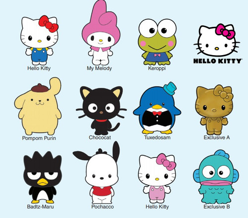3D Figural Foam Bag Clip Hello Kitty & Friends Mystery Box [24 Packs]