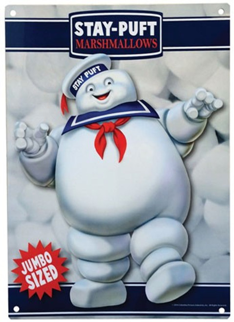 Ghostbusters Stay Puft Marshmallow Man 8-Inchx11-Inch Metal Sign