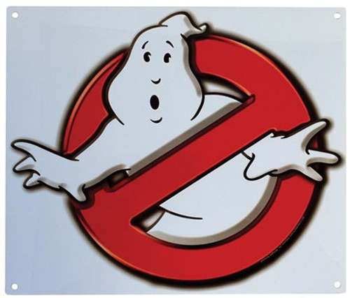 Ghostbusters No Ghosts Logo 9-Inchx11-Inch Metal Sign