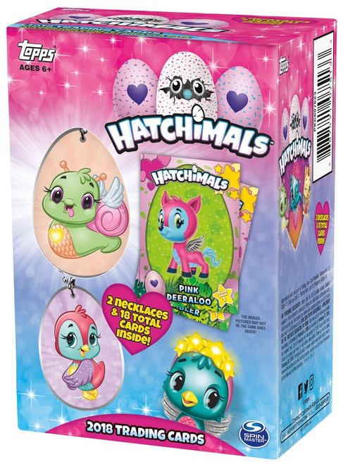 Hatchimals Topps 2018 Trading Card VALUE Box [3 Packs, 2 Necklaces!]
