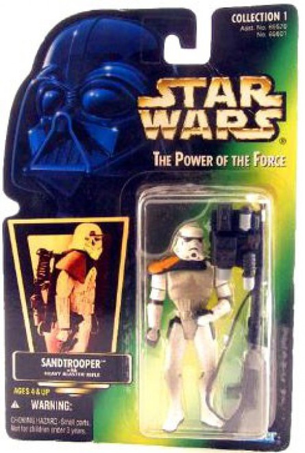 Star Wars A New Hope Power of the Force POTF2 Collection 1 Sandtrooper with Heavy Blaster Action Figure [Hologram Card]