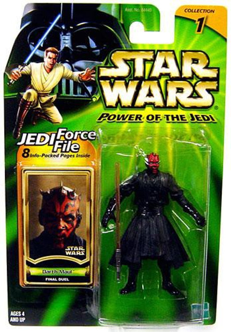 Star Wars Phantom Menace Power of the Jedi 2002 Collection 1 Darth Maul Action Figure [Final Duel]