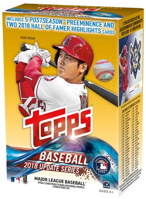 MLB Topps 2018 Update Baseball Trading Card BLASTER Box [10 Packs + 1 Patch Card!]