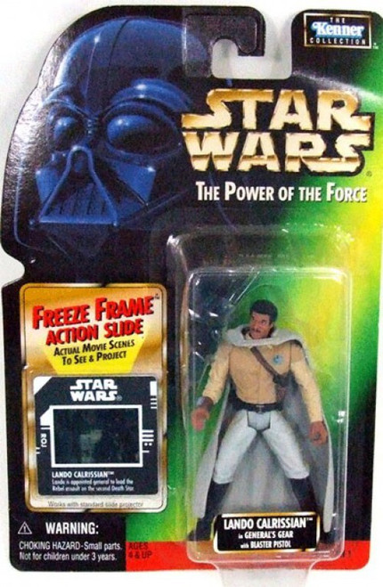 Star Wars Return of the Jedi Power of the Force POTF2 Kenner Collection Lando Calrissian in General Gear Action Figure