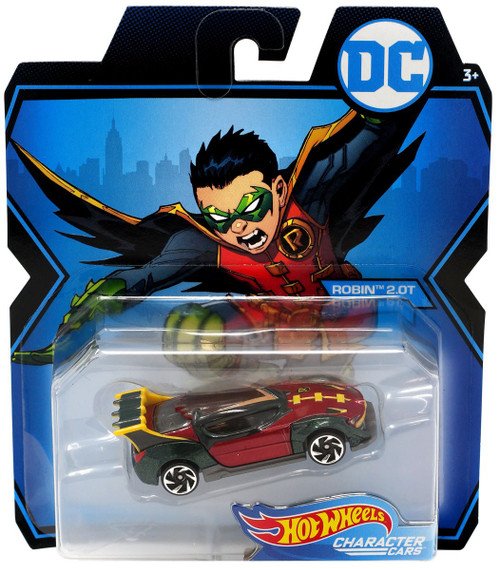 Hot Wheels DC Character Cars Robin 2.0T Die-Cast Car [Version 2]