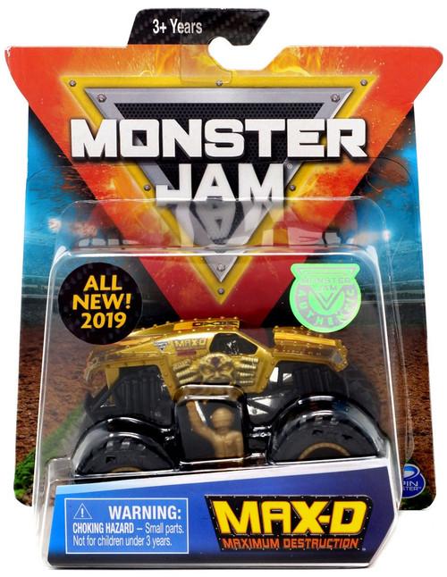 Monster Jam Max-D Diecast Car [Gold]