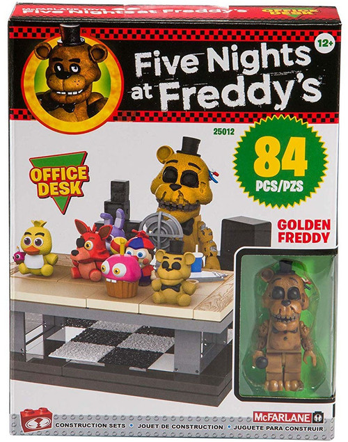 McFarlane Toys Five Nights at Freddy's Office Desk Build Set [Golden Freddy]
