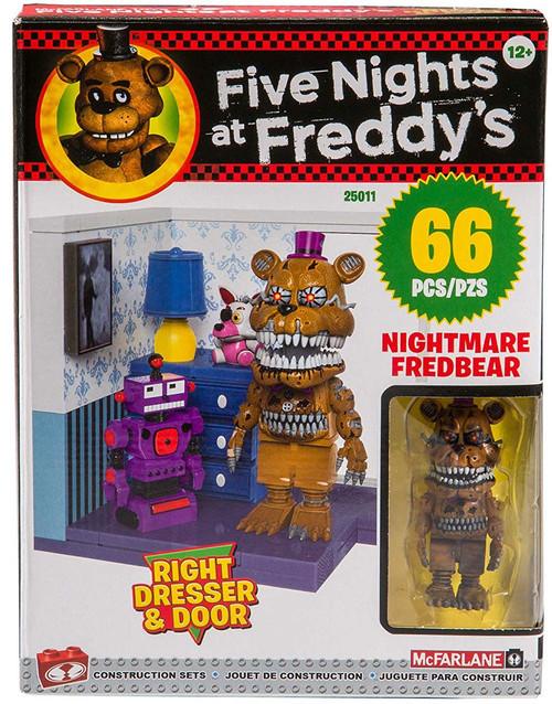 McFarlane Toys Five Nights at Freddy's Right Dresser & Door Build Set [Nightmare Fredbear]