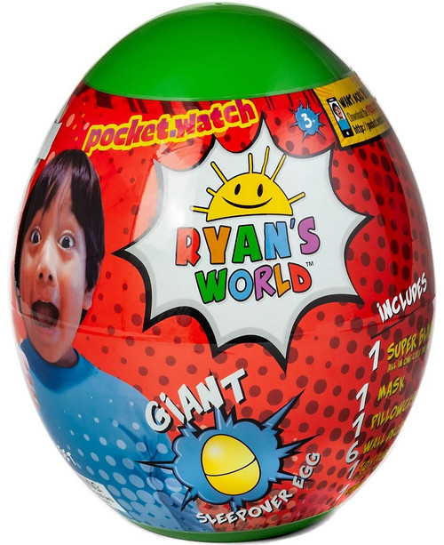 Ryan's World Giant Sleepover Egg Exclusive Mystery Surprise [GREEN, Super Blanky, Version 1]