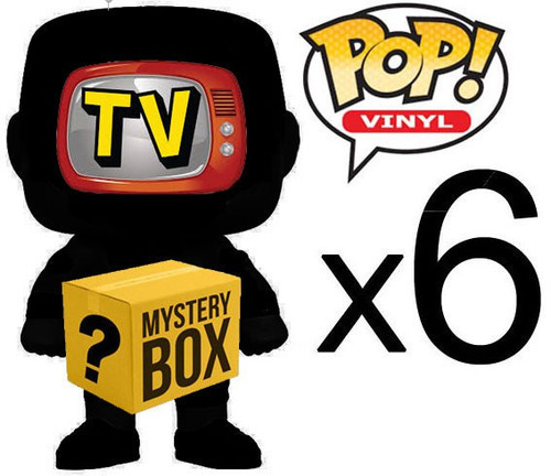 Funko TELEVISION MYSTERY BOX LOT of 6 Funko POP! Vinyl Figures [Completely Random, No Duplicates Per Box!]