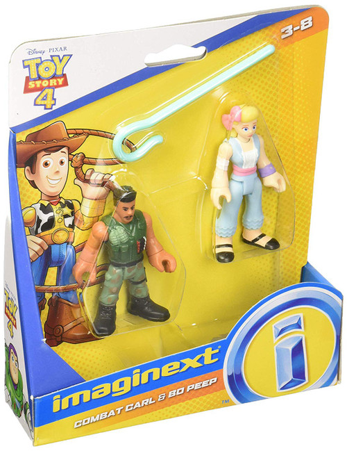 Fisher Price Disney / Pixar Imaginext Toy Story 4 Combat Carl & Bo Peep Figure Set