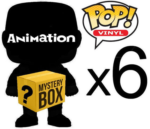 Funko ANIMATION MYSTERY BOX LOT of 6 Funko POP! Vinyl Figures [Completely RANDOM, No Duplicates Per Box!]