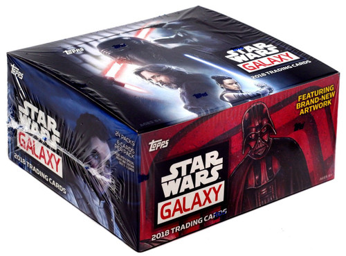 Star Wars Topps 2018 Galaxy Trading Card RETAIL Box [24 Packs]