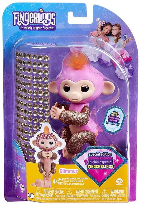 Fingerlings Baby Monkey Glimmer Figure