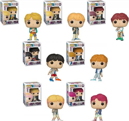 Funko BTS POP! Rocks RM, Jin, Suga, J-Hope, Jimin, V & Jungkook Set of 7 Vinyl Figures