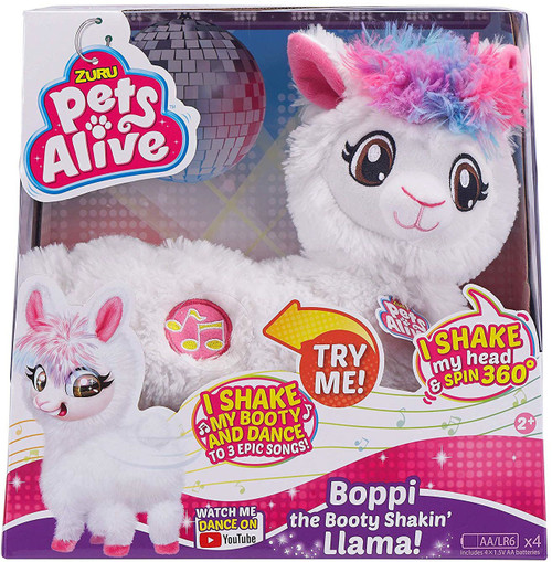 Pets Alive Boppi the Booty Shakin' Llama Robotic Pet Figure [White Fur]