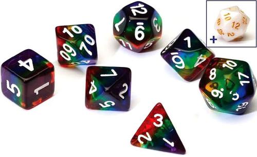 Sirius Dice Rainbow Polyhedral 7-Die Dice Set