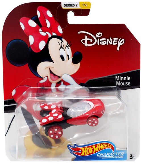 Disney Hot Wheels Character Cars Series 2 Minnie Mouse Die Cast Car #1/6