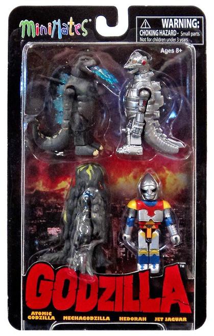 Godzilla Minimates Series 2 Minifigure 4-Pack [Atomic Godzilla, Mechagodzilla, Jet Jaguar & Hedorah ]