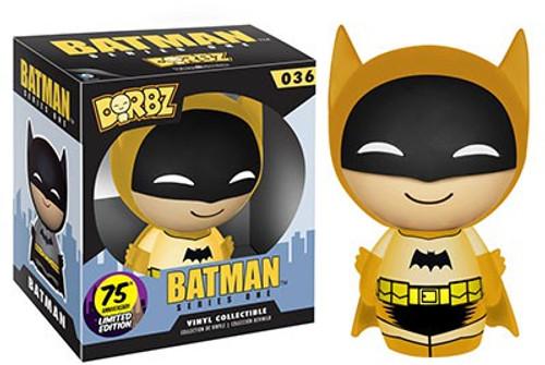 Funko DC 75th Colorways Dorbz Batman LE Vinyl Figure #36 [Yellow Suit, Damaged Package]