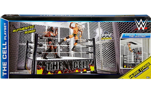 WWE Wrestling The Cell Playset Exclusive Deluxe Ring [Damaged Package]