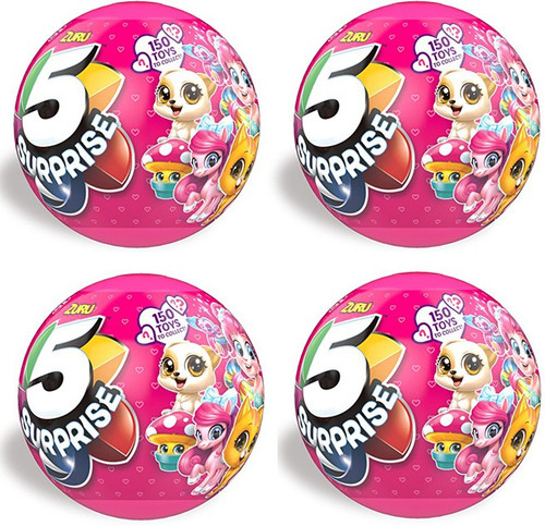 5 Surprise PINK LOT of 4 Mystery Packs