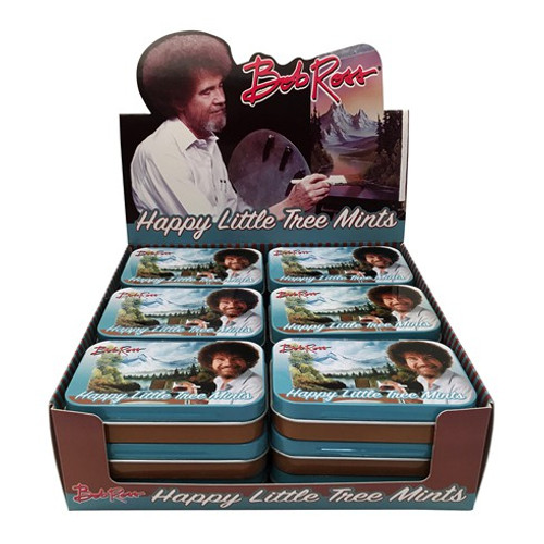 Bob Ross Happy Little Tree Mints Box of 9 Candy Tins