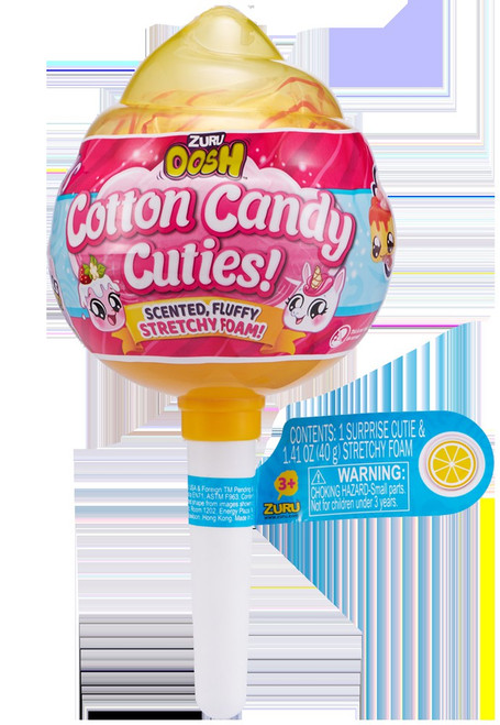 Oosh Cotton Candy Cuties Stretchy Foam Series 1 MEDIUM Pop YELLOW Mystery Pack