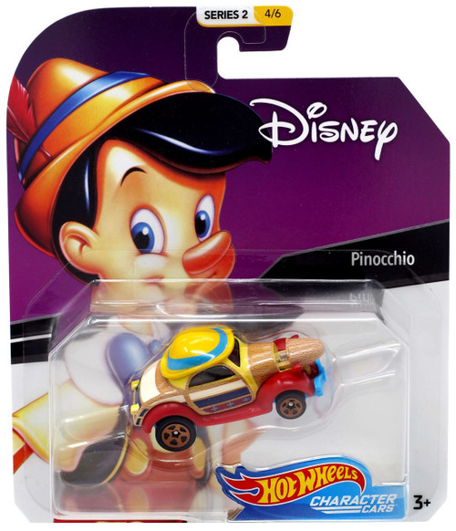 Disney Hot Wheels Character Cars Series 2 Pinocchio Die Cast Car #4/6