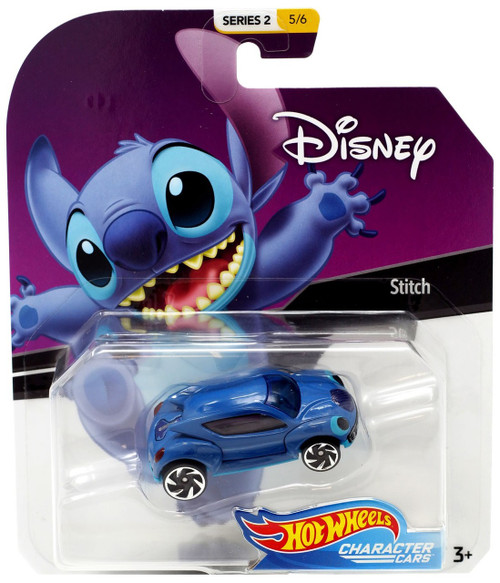 Disney Hot Wheels Character Cars Series 2 Stitch Die Cast Car #5/6