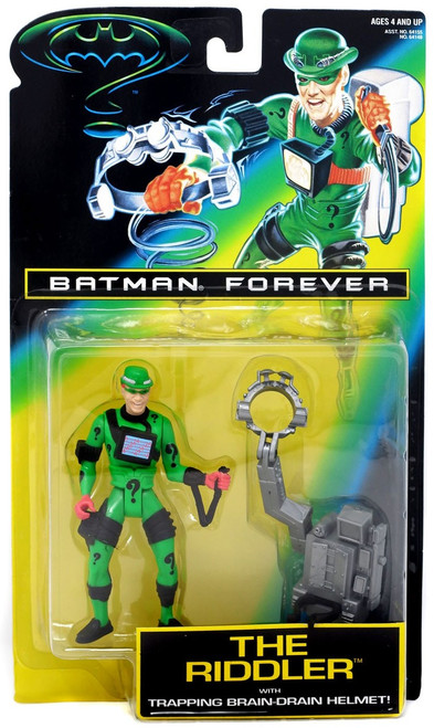 Batman Forever The Riddler Action Figure [Trapping Brain-Drain Helmet!]