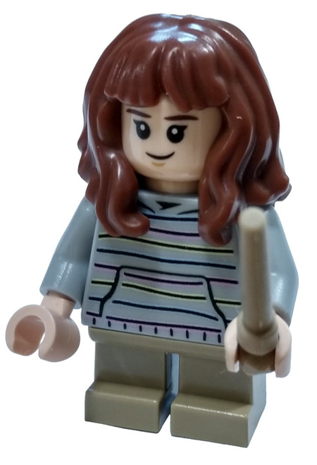 LEGO Harry Potter Hermione Granger Minifigure [Striped Sweater and Tan Wand Loose]
