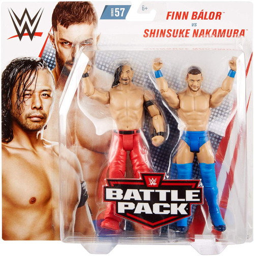 WWE Wrestling Battle Pack Series 57 Finn Balor & Shinsuke Nakamura Action Figure 2-Pack